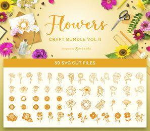 Pacote de flores para artesanato, Vol 2