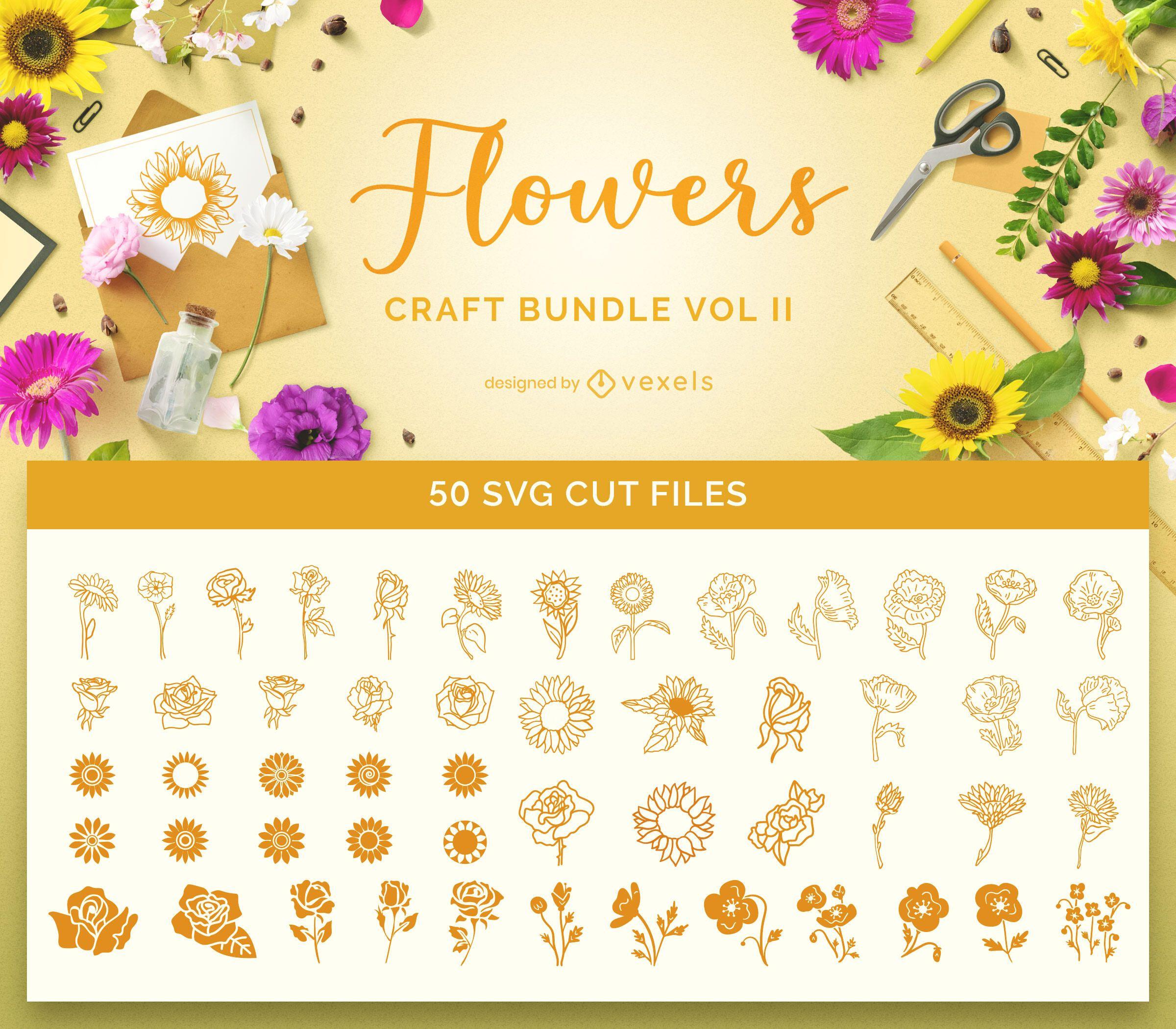 Flowers Bundle Craft Bundle Vol 2