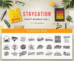 Pacote de Artesanato Staycation Vol 1