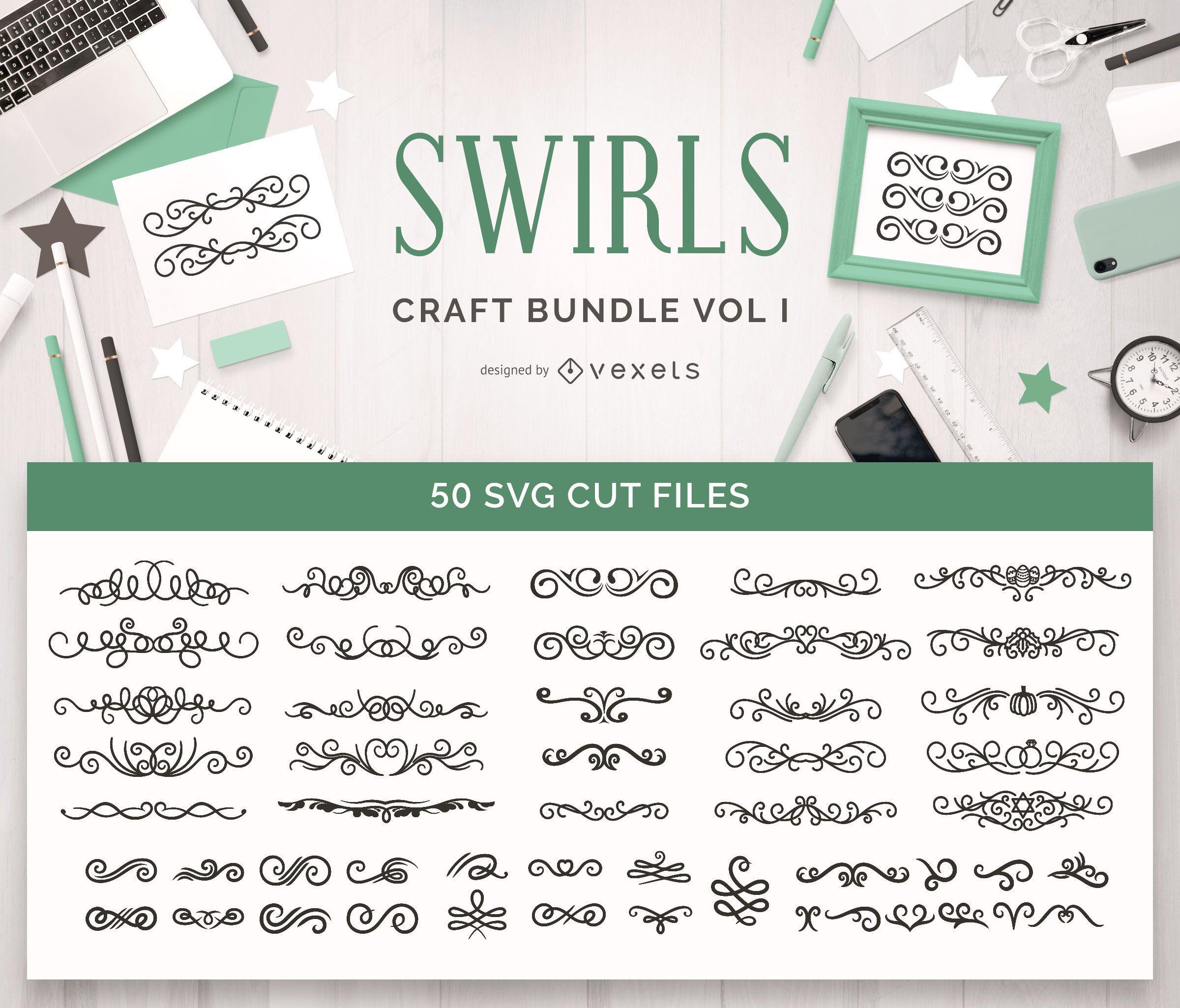 Swirls Craft Bundle Vol 1