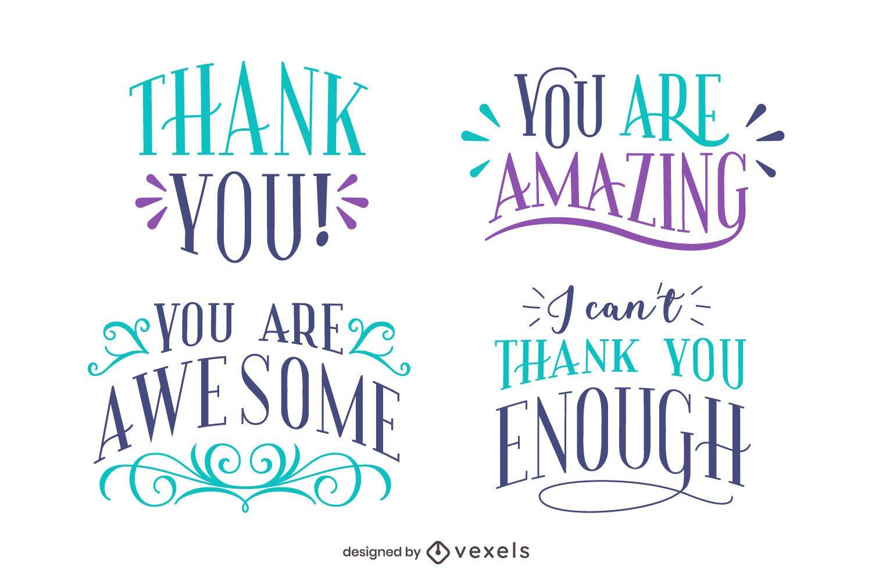 Obrigado conjunto de letras