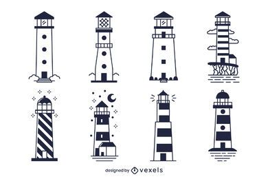 Monochrome Lighthouse Design Pack