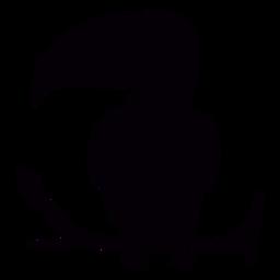 Toco tucano poleiro ramo preto