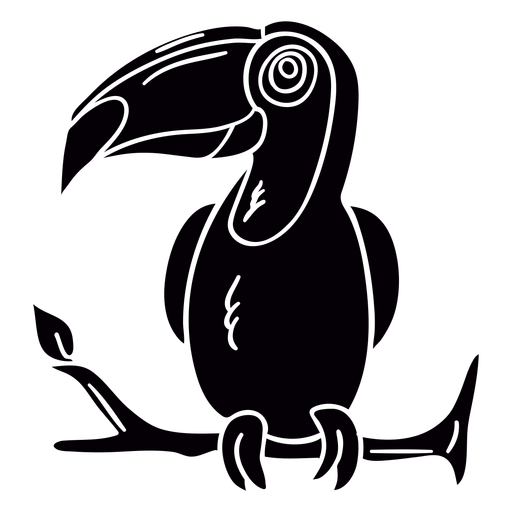 Toco toucan perch branch black