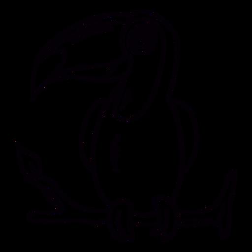 Toco toucan perch branch stroke