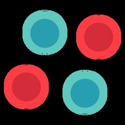 Círculo clássico pano botões plana ícone