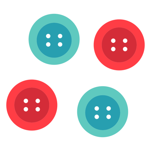 Classic circle cloth buttons flat icon
