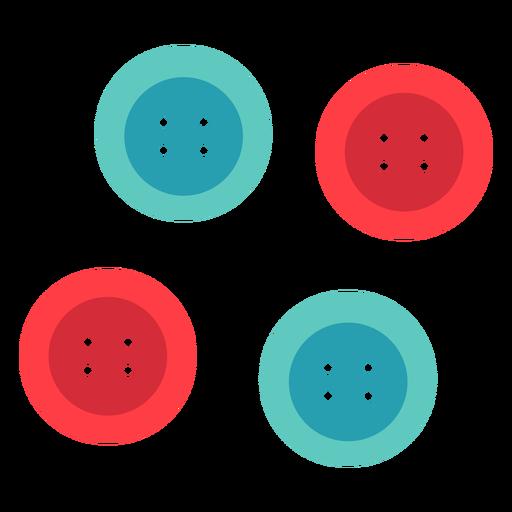 Icono plano de botones de tela círculo clásico Transparent PNG