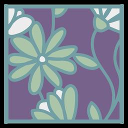 Daisy floral coaster quadrado plano