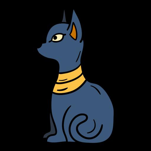 Símbolo de perfil de gato dibujado a mano