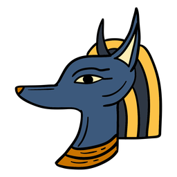 Hand drawn egypt anubis head symbol