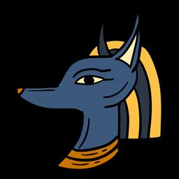 Símbolo de cabeza de Egipto anubis dibujado a mano