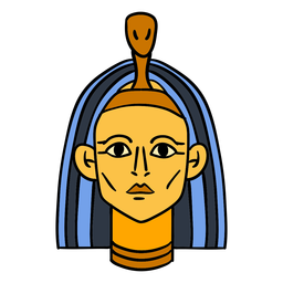 Hand drawn egypt pharaoh symbol
