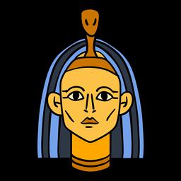 Símbolo de mão desenhada faraó do Egito