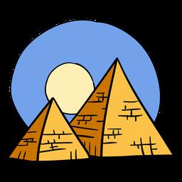 Mão desenhada símbolo da pirâmide do egito