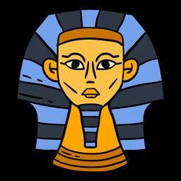 Hand gezeichnetes ägyptisches Sphinxkopfsymbol