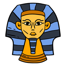 Símbolo de cabeça desenhada Esfinge do Egito