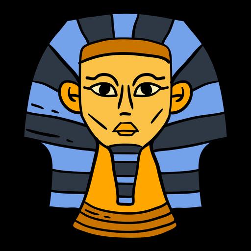 Hand drawn egypt sphinx head symbol