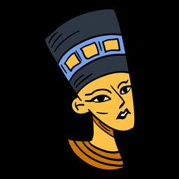 Símbolo de rainha egípcia desenhada de mão