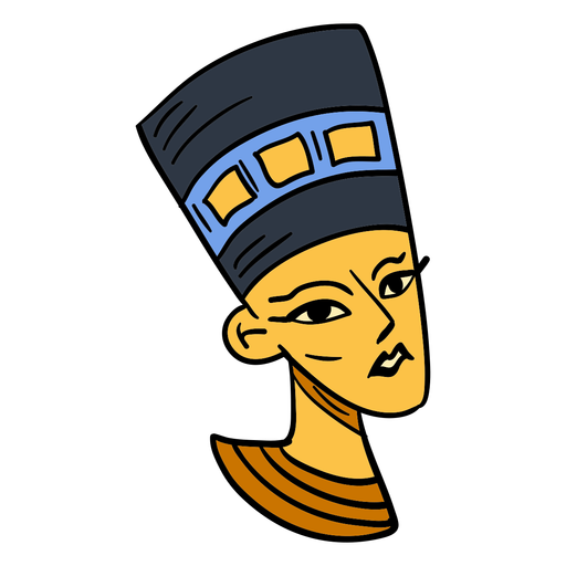Hand drawn egyptian queen symbol