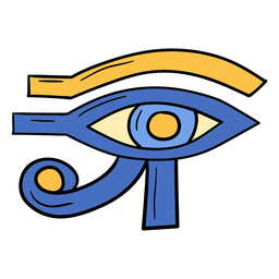 Hand drawn eye of horus
