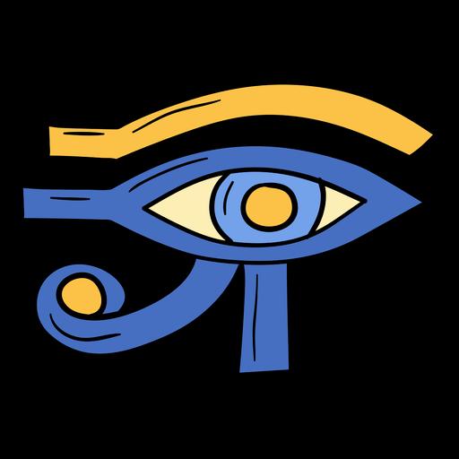 Hand drawn eye of horus