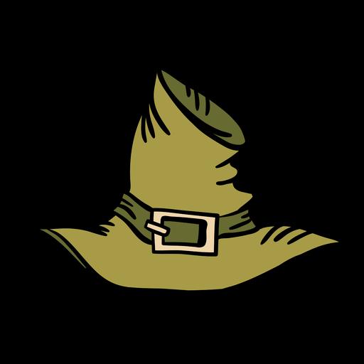 Hand drawn green pilgrim hat - Transparent PNG & SVG ...