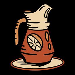 Dibujado a mano jarra bebida de limonada