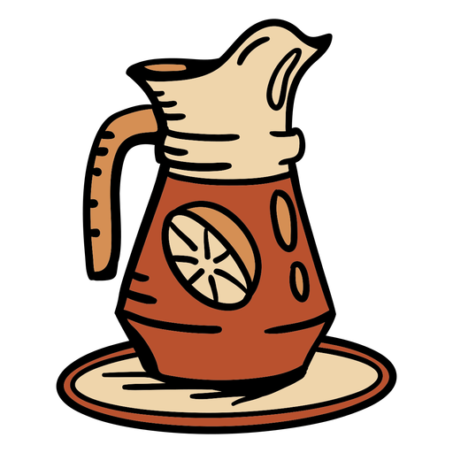 Hand drawn jug lemonade beverage Transparent PNG