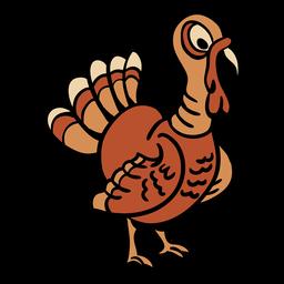 Pássaro de peru desenhado de mão
