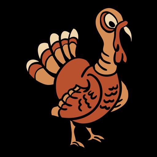 Hand drawn turkey bird