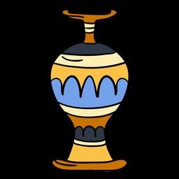 Símbolo de Egito mão desenhada vaso