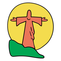 Jesus Statue Sonnenuntergang Brasilien