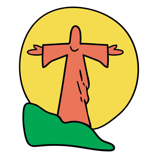 Jesús estatua puesta de sol brasil Transparent PNG