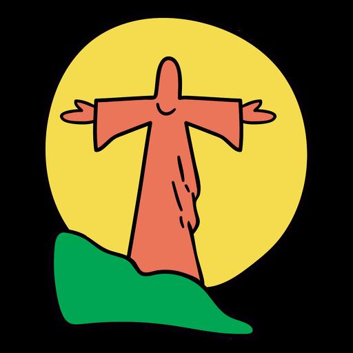 Jesus statue sunset brazil