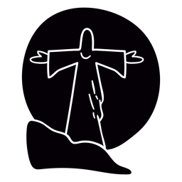 Jesus Statue Sonnenuntergang Brasilien schwarz