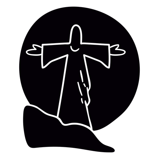 Jesus statue sunset brazil black