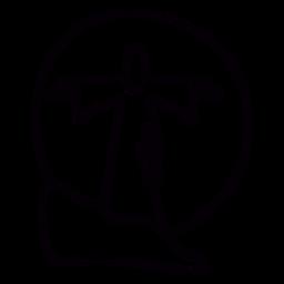 Estátua de Jesus ao pôr do sol no brasil