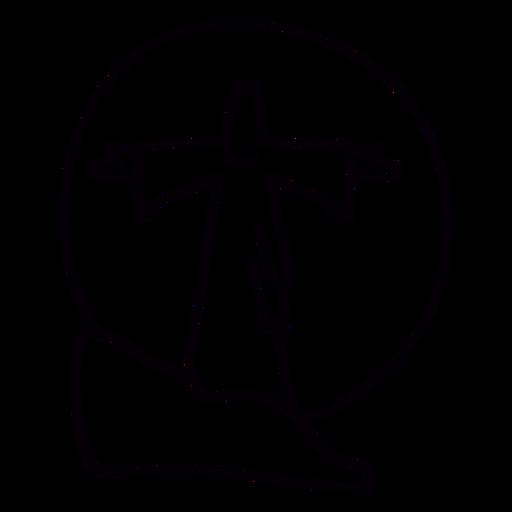 Jesús estatua puesta de sol Brasil trazo Transparent PNG