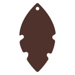 Leaf leather earring flat