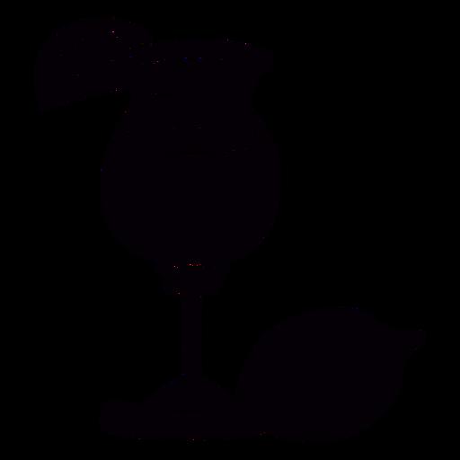 Cocktail de limão desenhado à mão símbolo preto