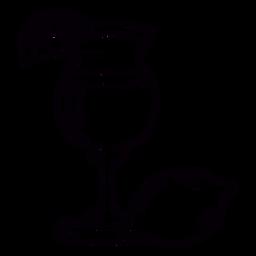 Lemon cocktail hand drawn symbol stroke