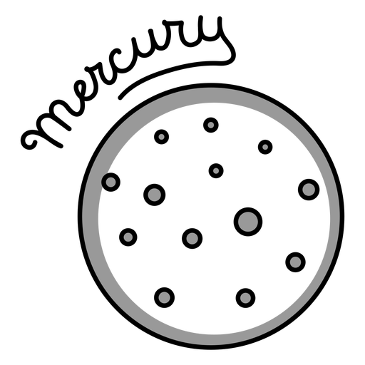 Mercury simple solar system planet