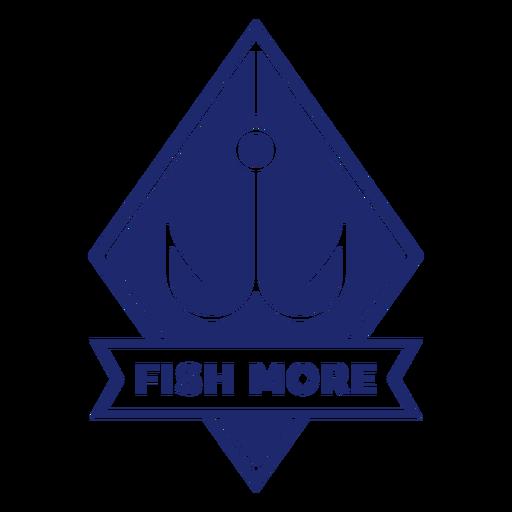 More fishing hook badge blue