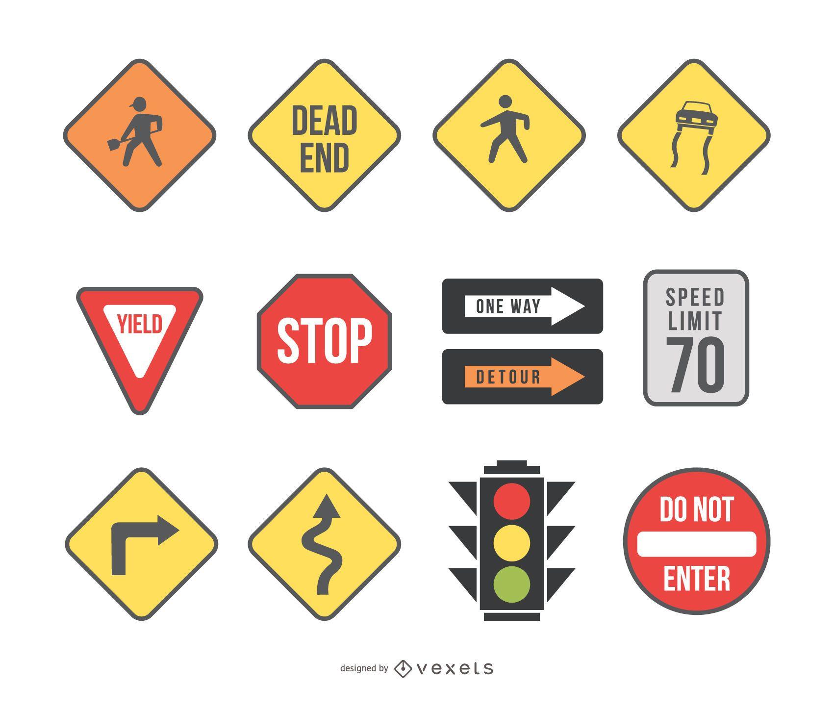 road signs & traffic light