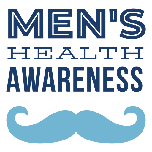 Letras de bigote hombres salud Transparent PNG