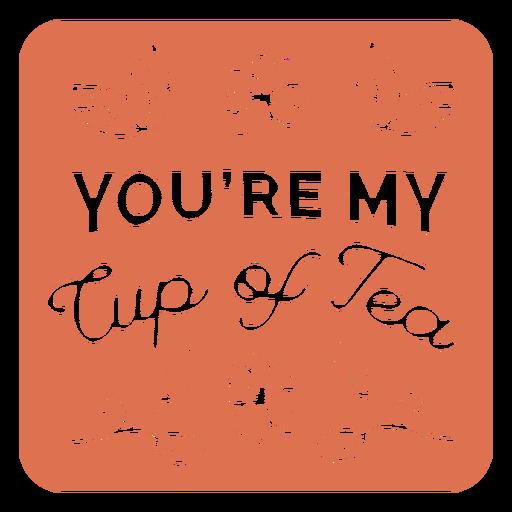 Posavasos cuadrado floral mi taza de té