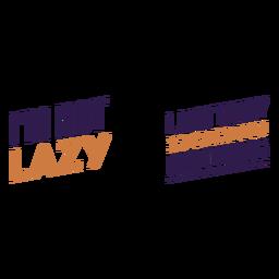Citação não preguiçoso sem fazer nada