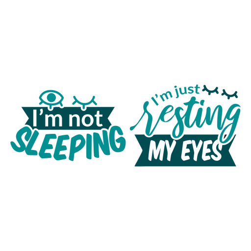 No dormir solo descansar mis ojos diseño de calcetines