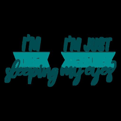 No dormir descansando mis ojos citas